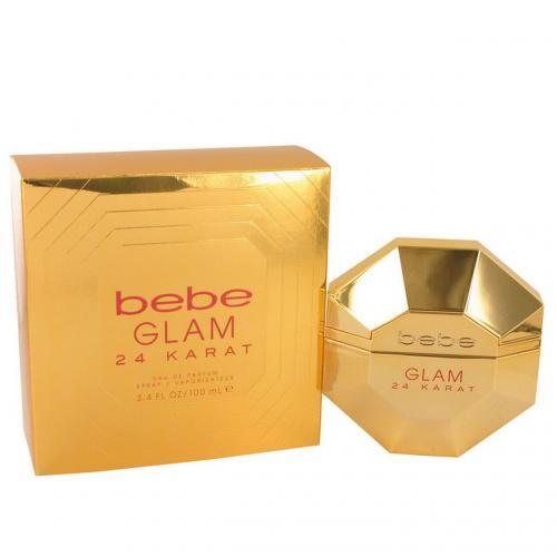 BEBE GLAM 24 KARAT 3.4 EAU DE PARFUM SPRAY FOR WOMEN
