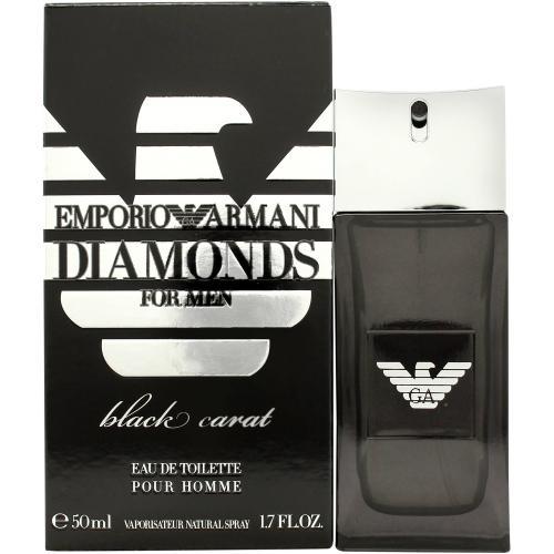 ARMANI EMPORIO DIAMONDS BLACK CARAT 1.7 EAU DE TOILETTE SPRAY FOR MEN