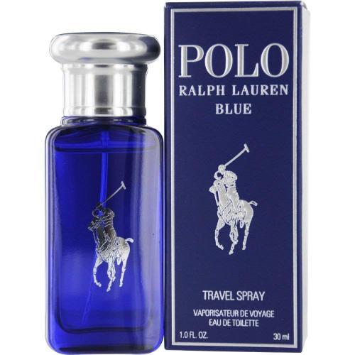 POLO BLUE 1 OZ EAU DE TOILETTE SPRAY (TRAVEL)