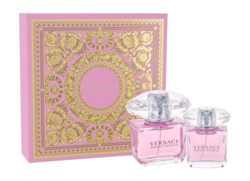 VERSACE BRIGHT CRYSTAL 2 PCS SET: 3 OZ EAU DE TOILETTE SPRAY + 1 OZ EAU DE TOILETTE SPRAY (HARD BOX)