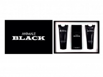 ANIMALE BLACK 3 PCS SET FOR MEN: 3.4 EDT SP + 3.4 AFTER SHAVE BALM + 3.4 HAIR & BODY WASH
