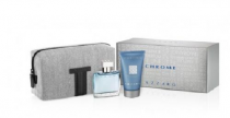AZZARO CHROME 3 PCS SET FOR MEN: 1 OZ EDT SP + 1.7 S/G + TOILETRY BAG