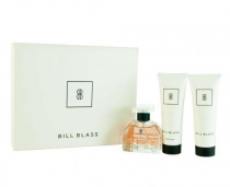 BILL BLASS 3 PCS SET FOR WOMEN NEW: 2.8 EDP SP + 3.4 FOAMING BATH GEL + 3.4 BODY LOTION