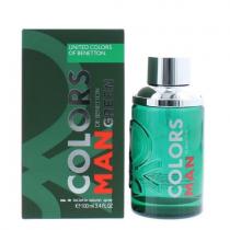 BENETTON COLORS MAN GREEN 3.4 EAU DE TOILETTE SPRAY FOR MEN