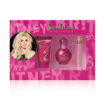 FANTASY 3 PCS SET: 1 OZ EAU DE PARFUM SPRAY + 1.7 BODY SOUFFLE + 0.33 EAU DE PARFUM SPRAY (WINDOW BOX)