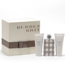 BURBERRY BRIT 3 PCS EDT SP FOR WOMEN: 3.4 SP