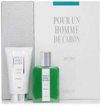 CARON POUR UN HOMME SPORT 2 PCS SET: 2.5 EAU DE TOILETTE SPRAY + 2.5 SHAMPOO