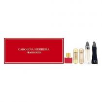 CAROLINA HERRERA 5 PCS MINI SET FOR WOMEN: CH 0.27 EAU DE TOILETTE + 212 VIP 0.17 EAU DE PARFUM + 212 VIP ROSE 0.17 EAU DE PARFUM + GOOD GIRL LEGERE 0.24 EAU DE PARFUM + 0.24 GOOD GIRL EAU DE PARFUM (INDIVIDUALLY BOXED)