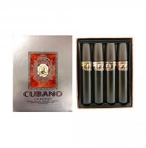 CUBANO 4 PCS SET FOR MEN 2 OZ EDT SP X 4: GOLD + SILVER + BROWN + COPPER