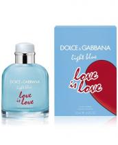 DOLCE & GABBANA LIGHT BLUE LOVE IS LOVE 4.2 EDT SP FOR MEN