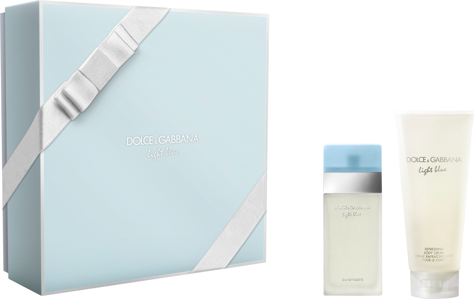 DOLCE & GABBANA LIGHT BLUE 2 PCS SET FOR WOMEN: 0.8 SP