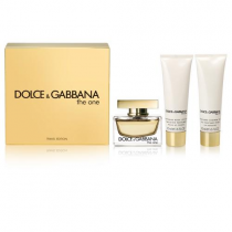 DOLCE & GABBANA THE ONE 3 PCS SET FOR WOMEN: 2.5 SP (TRAVEL SET)