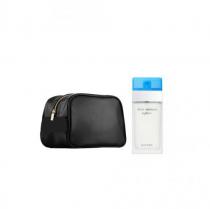 DOLCE & GABBANA LIGHT BLUE 2 PCS SET FOR WOMEN: 6.7 EDT SP + BAG