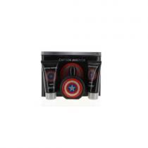 MARVEL CAPTAIN AMERICA HERO 3 PCS SET FOR MEN: 3.4 EAU DE...