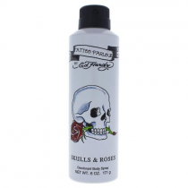 ED HARDY SKULLS & ROSES 6 OZ DEODORANT BODY SPRAY