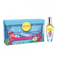 ESCADA AGUA DEL SOL 2 PCS SET FOR WOMEN: 1 OZ EDT SP + 1 POUCH
