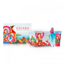 ESCADA BORN IN PARADISE 3 PCS SET: 3.4 EDT SP + 5 OZ BODY LOTION + COOLER POUCH