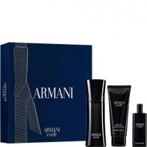 ARMANI CODE 3 PCS SET FOR MEN: 2.5 EAU DE TOILETTE SPRAY + 0.5 EAU DE TOILETTE SPRAY + 2.5 SHOWER GEL (HARD BOX)