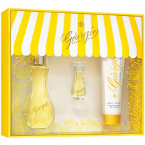 GIORGIO YELLOW 3 PCS SET FOR WOMEN: 1.7 EAU DE TOILETTE SPRAY + 3.5 ML EAU DE TOILETTE MINI + 1.7 BODY LOTION (WINDOW BOX)