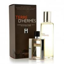 TERRE D'HERMES 2 PCS SET FOR MEN: 1 OZ EDT SP + 4.2 EDT REFILL