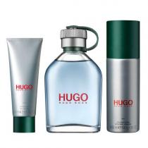 HUGO BOSS GREEN 3 PCS SET FOR MEN: 4.2 EAU DE TOILETTE SPRAY + 3.6 OZ DEODORANT SPRAY + 1.6 SHOWER GEL (HARD BOX)