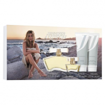 JENNIFER ANISTON 4 PCS SET: 2.9 EDP SP + 3 OZ BODY LOTION + 3 OZ SHOWER GEL + 0.25 OZ EDP SP