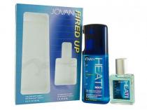 JOVAN HEAT 2 PCS SET FOR MEN: 8.4 OZ
