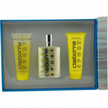 CLAIBORNE SPORT 3 PCS SET FOR MEN: 3.4 COL SP + 3.4 SKIN SOOTHER + 3.4 HAIR & BODY CLEANSER
