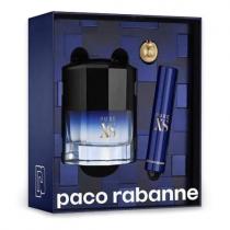 PACO PURE XS 3 PCS SET FOR MEN: 1.7 EAU DE TOILETTE SPRAY + 0.33 OZ EAU DE TOILETTE SPRAY + KEY RING