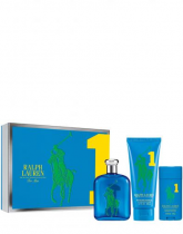 POLO BIG PONY # 1 BLUE 3 PCS SET FOR MEN: 4.2 EDT SP