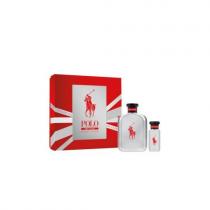 POLO RED RUSH 2 PCS SET: 4.2 EAU DE TOILETTE SPRAY + 1 OZ EAU DE TOILETTE SPRAY (HARD BOX)