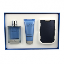 SALVATORE FERRAGAMO ACQUA ESSENZIALE 3 PCS SET FOR MEN: 3.4 SP