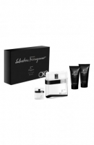 SALVATORE FERRAGAMO F BLACK 4 PCS SET: 3.4 EDT SP