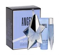 ANGEL 3 PCS SET FOR WOMEN: 1.7 EAU DE PARFUM REFILLABLE SPRAY + 0.33 OZ EAU DE PARFUM + 1.7 BODY LOTION
