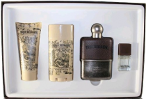 TRUE RELIGION 4 PCS SET FOR MEN: 3.4 EDT SP + 2.75 DEOD STCK +  1/4 OZ  EDT SP + 3 OZ H&B WASH