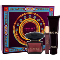 VERSACE CRYSTAL NOIR 3 PCS SET: 3 OZ EAU DE PARFUM SPRAY + 0.3 OZ EAU DE PARFUM SPRAY + 5 OZ BODY LOTION