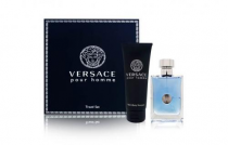 VERSACE POUR HOMME 2 PCS SET: 1 OZ EDT SP + 1.7 HAIR & BODY SHAMPOO