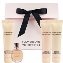 FLOWERBOMB V&R 4 PCS SET: 0.24 OZ MINI EDP